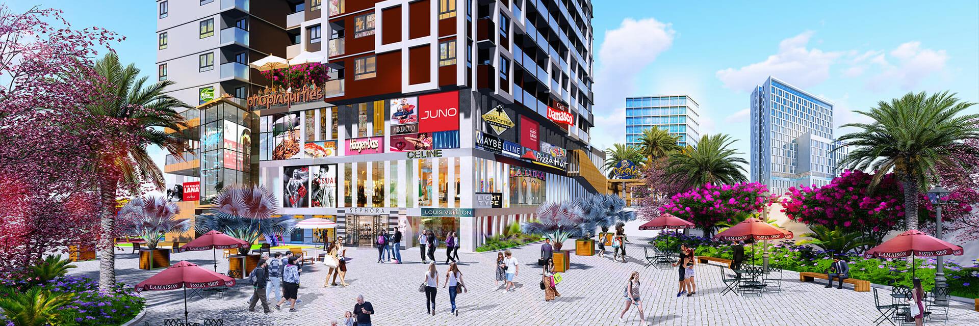 New Times City thuận tiện để ở và khai thác kinh doanh do nằm ngay trung tâm thị xã Tân Uyên