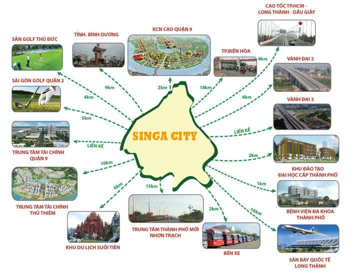 Tiện ích dự án khu đô thị Singa City quận 9