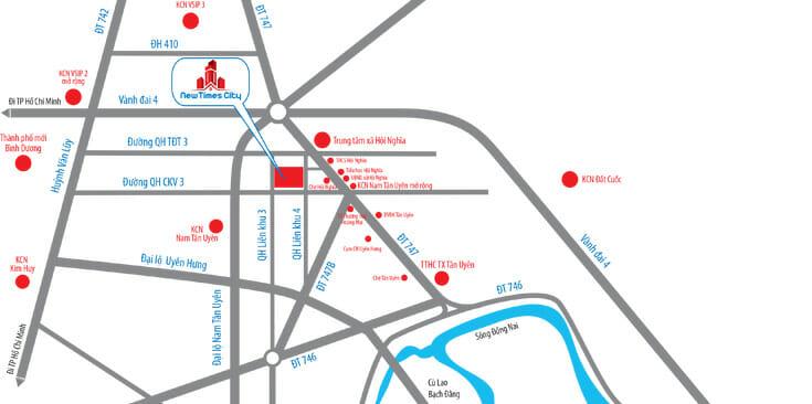 vị trí new times city