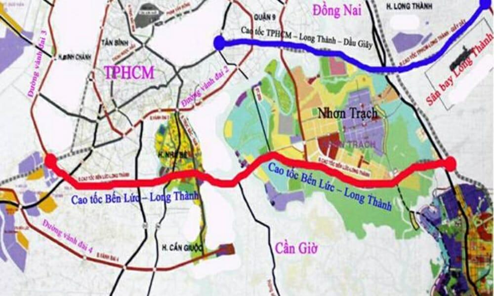 Tuyến cao tốc Bến Lức Long Thành kết nối Long An với Nhơn Trách