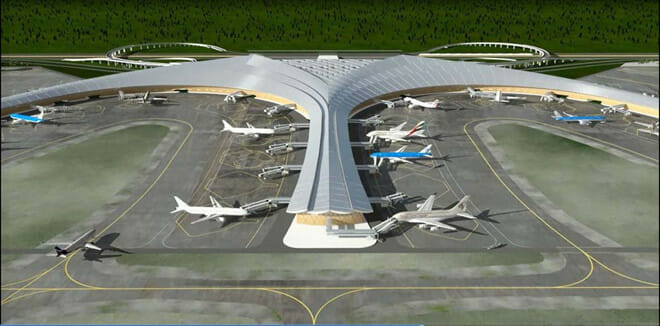 Mô hình sân bay Long Thành ACV cung cấp