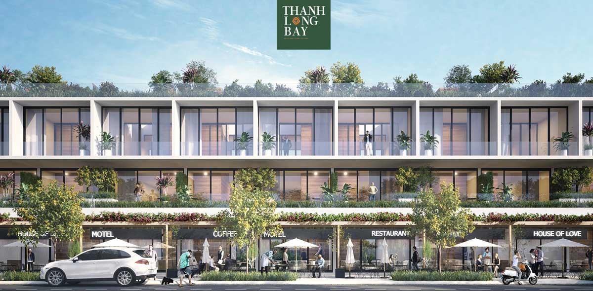 Phối cảnh Shophouse Thanh Long Bay Bình Thuận