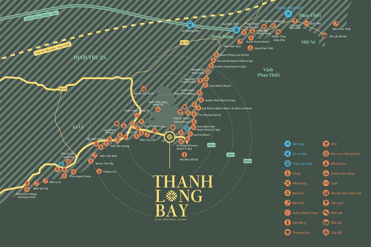 Vị trí Dự án Khu đô thị Thanh Long Bay Bình Thuận