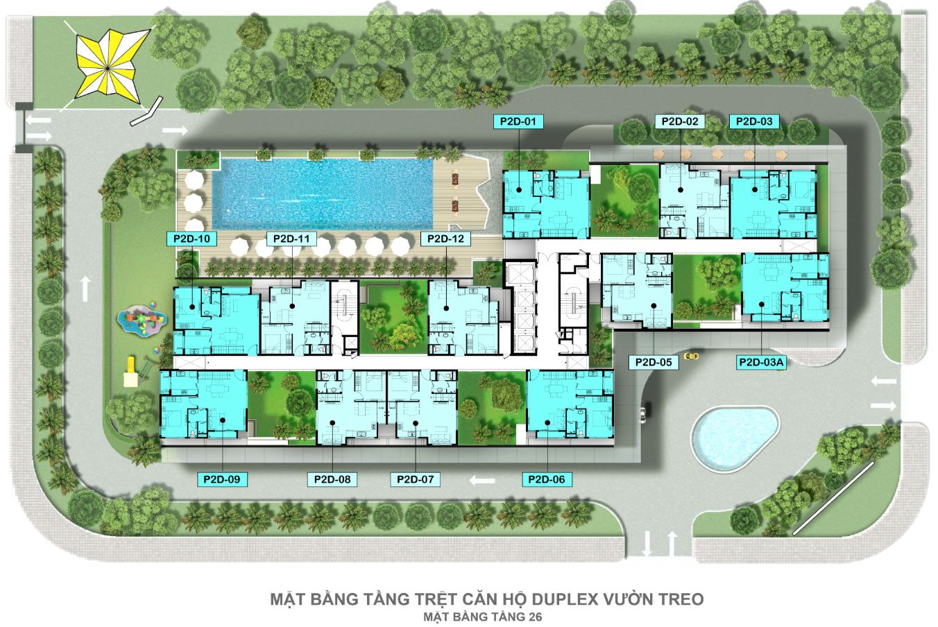 Mat Bang Can Ho Can Ho Duplex Vuon Treo